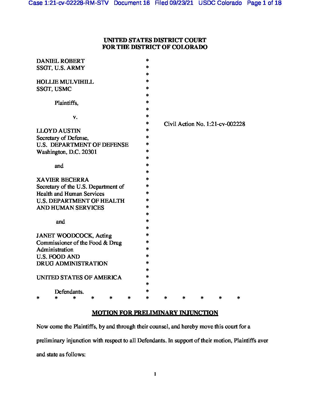 Colorado Lawsuit 1